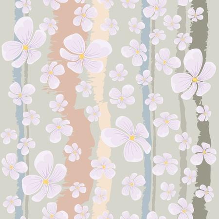 wallpapper: tessuto senza soluzione di continuit� o di sfondo con i fiori che volano Wallpapper