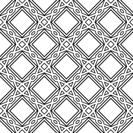 Celtic monochrome seamless pattern  Vector