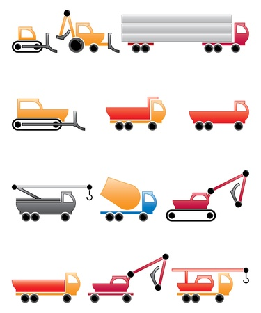 construction machines and equipment, design elements Vector