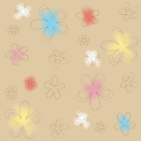 seamless colored abstract floral texture Stock Vector - 11142990