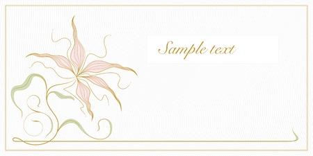Carte De Voeux Ou Dinvitation Template Vintage Fond Floral Avec Le Bronze Dorchidees Cadre Espace Pour Texte Limage