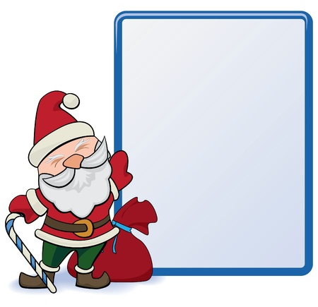 santa claus with stand isolated. for web design and high quality print. Vector