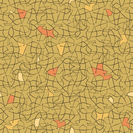 simple cracks pattern with colored pieces in pale red-yellow shades Vector