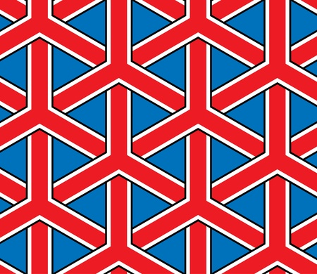 jointless: britain flag style seamless