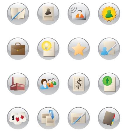 social buttons set Stock Vector - 12409728