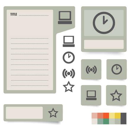 Symbole Und Papier Aufkleber Mit Instrumenten, Komponenten Und ...