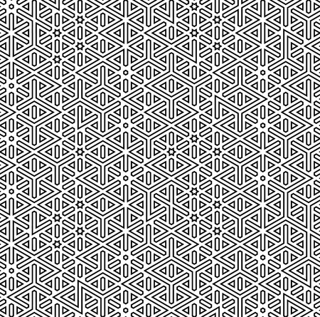 abstract seamless arabic decor background vector illustration Vector