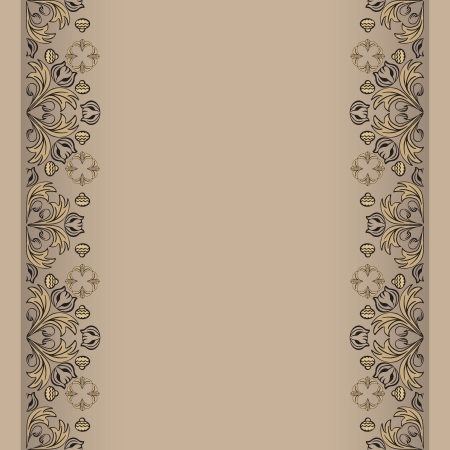 sepia backdrop with floral elemens vector illustration Stock Vector - 14759731