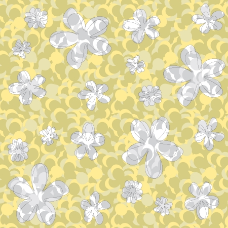 seamless abstract floral texture in green and yellow shades Stock Vector - 14759735