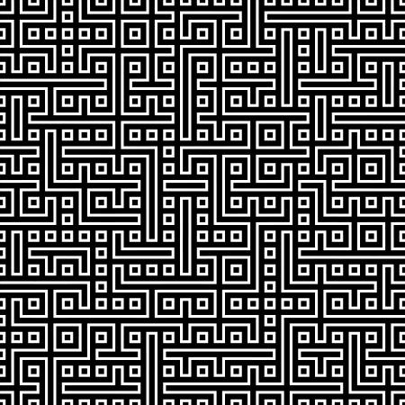 pattern: Naadloze abstracte geometrische vector patroon voor continu repliceren Stock Illustratie