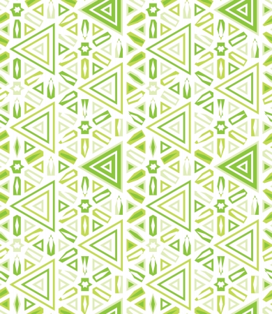 african traditional decor seamless background with stars and triangles vector illustration Vector
