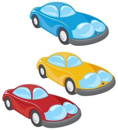 cartoon style cars vector illustration eps 10 Vector