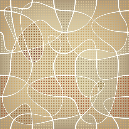 chaotic: chaotic ribbon over mosaic colored backdrop  repetition background