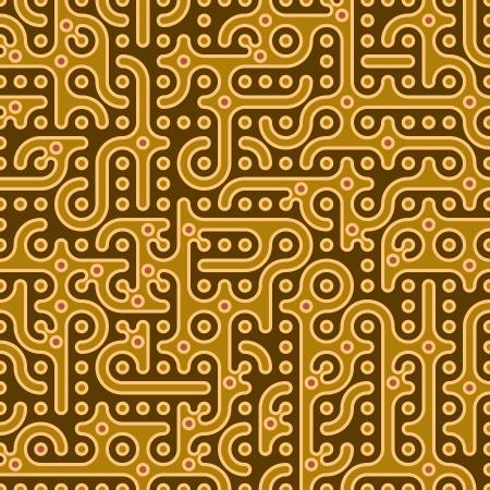sencillez: tradicional indio fondo sin fisuras con criaturas fantásticas y petroglifos ilustración vectorial