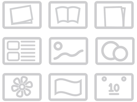 categories: icon set for categories of goods for on-line shops, internet directories and indexes, for web design and high quality print and any other creative works Illustration