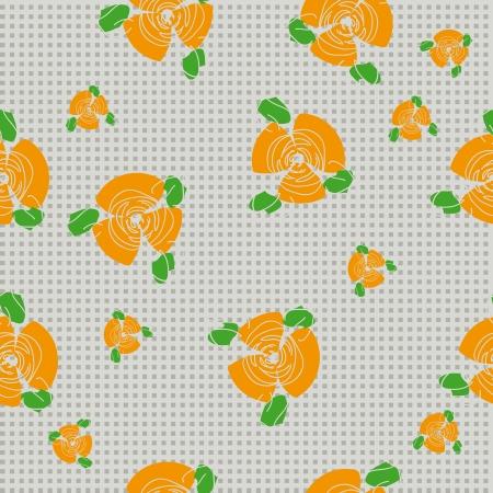 ton: tekstil tasarımı için turuncu gül ve kaliteli baskı ile geleneksel el yapımı halk kesintisiz çiçek arka plan