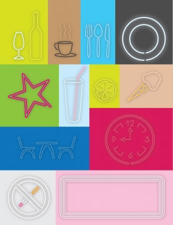 demitasse: light design caf�, pub e bar per il web design, interni, stampa di alta qualit� e altre opere creative Vettoriali