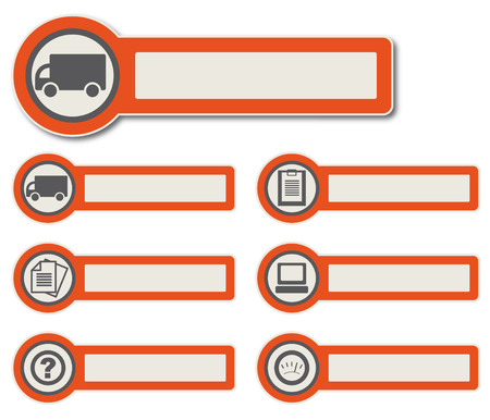 Symbole und Papier Aufkleber mit Instrumenten, Komponenten und Funktionen für hochwertige Print-, Web-Design und Büroarbeit einfach mehr Farbe bearbeiten