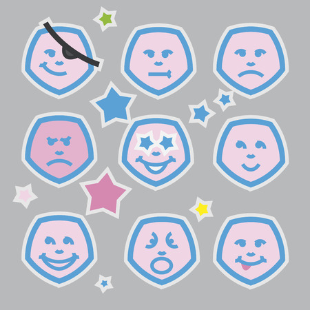 emoticons set for web design, high quality print and other creative works