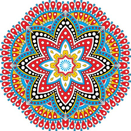 Mandala Geometric Round Ornament Tribal Ethnic Stock Vector.