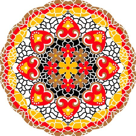 Colorful Ethnic Round Ornamental Mandala.