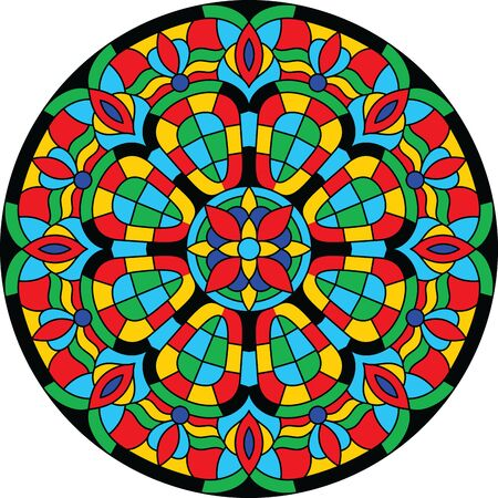 Round Stained Glass Window  illustration
