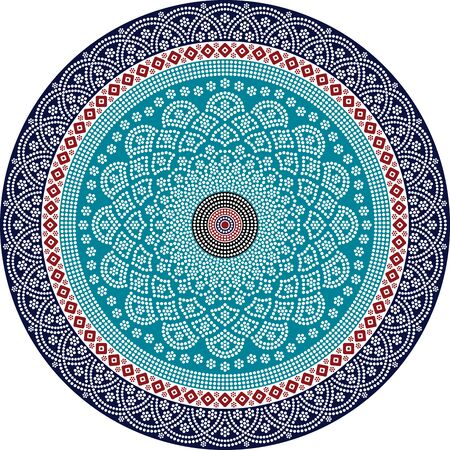 Ethnic mandala design. Dot painting art in aboriginal style