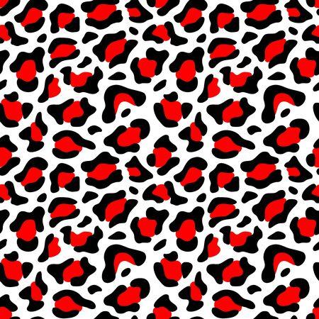 black and red animal skin pattern design