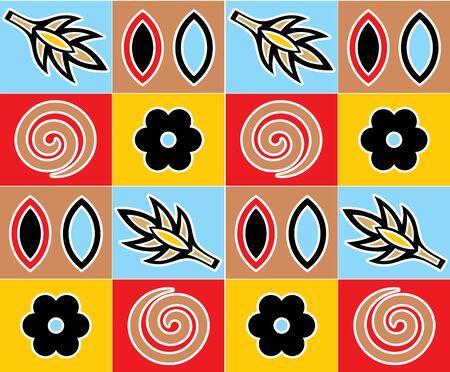 colorful motif tiles ornamental pattern design
