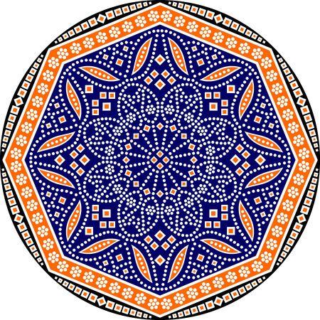 round Ethnic mandala design Dot painting aboriginal style