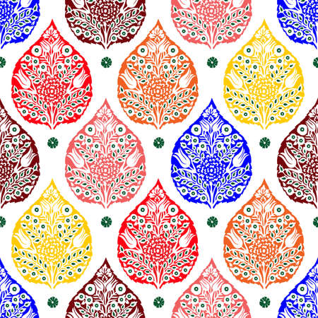colorful vector abstract flower bunch pattern background design