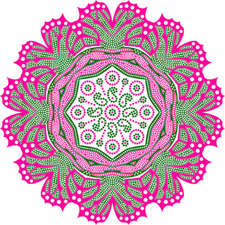 colorful vector Indian chunri mosaic round design