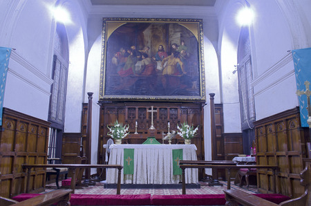 tamil nadu: Inside view of St Marys Church in Chennai, Tamil Nadu, India, Asia