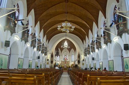 tamil nadu: Easter Mass at Santhome Church, Chennai, Tamil Nadu, India, Asia
