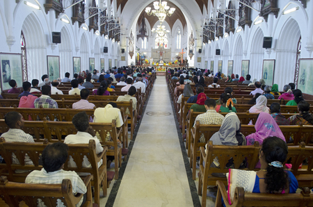 roman catholic: Easter Mass at Santhome Church, Chennai, Tamil Nadu, India, Asia