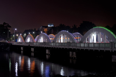 tamil nadu: Napier Bridge in Chennai, Tamil Nadu, India, Asia