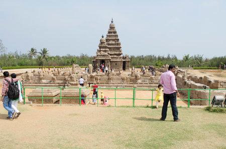 pallava: Shore Temple, Mahabalipuram, Tamil Nadu, India, Asia