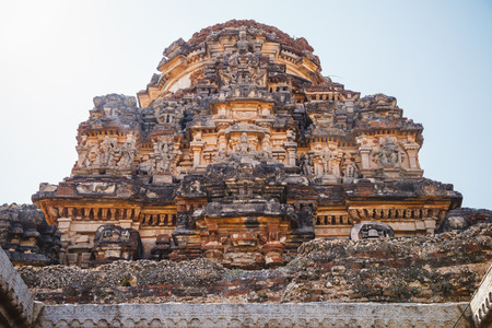karnataka culture: Old ruins of Hampi, Karnataka, India