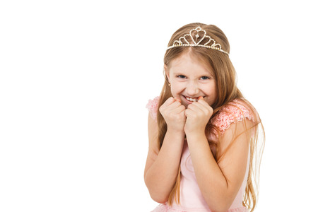 seven persons: little girl with a diadem