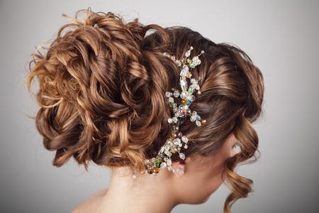hochzeitsfrisur: Sch�nheit Hochzeit Frisur. Braut Lizenzfreie Bilder