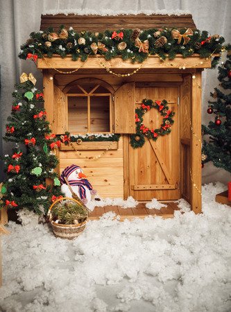christmas house: Decorated christmas house