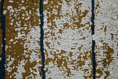 distress: Abstract background, old cracked plaster wall, blue texture, paint stains, cracks