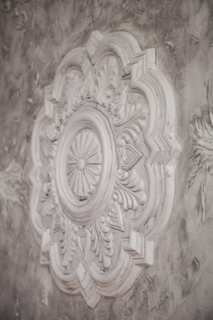 pilasters: Gypsum tracery art texture with handmade details