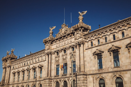 Architecture of Barcelona, Spain. Traveling in Europe. Stock Photo