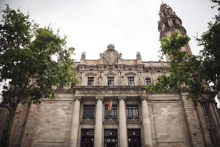 Architecture of Barcelona, Spain. Correos telefrafos. Stock Photo