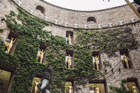 FIGUERES, SPAIN - APRIL 21 2016: Detail of Salvador Dali Museum. Editoriali
