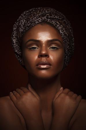 Gorgeous Woman Portrait. Stylish Haircut and Makeup. Stock Photo