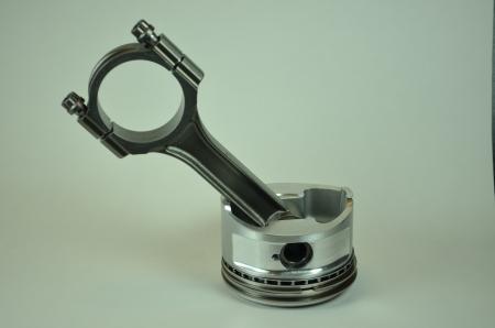 piston rod: rod and piston isolated