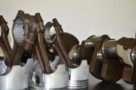 piston rod: rod   piston collection Stock Photo