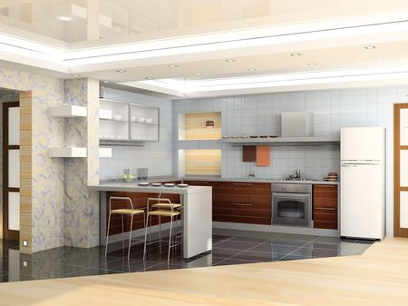 eclecticism: modern kitchen